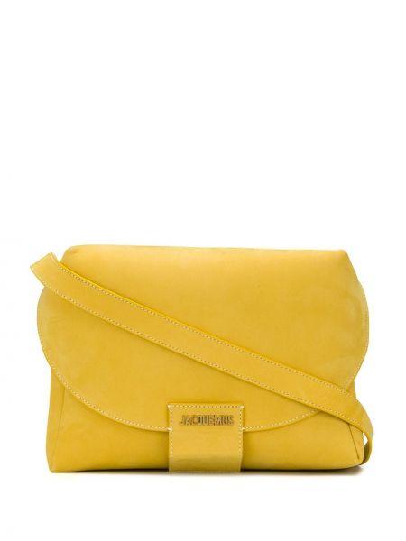 Желтая сумка на плечо с карманами с пряжкой Jacquemus