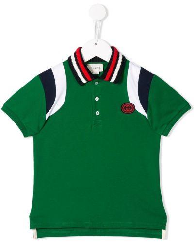 Рубашка зеленый в рубчик Gucci Kids