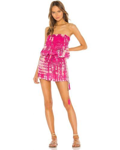 Платье с декольте - розовое Tiare Hawaii