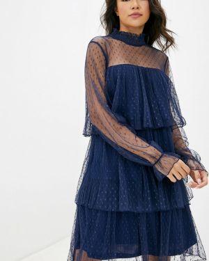 Вечернее платье осеннее синее Care Of You