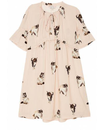 Платье мини розовое из вискозы Paul & Joe Sister