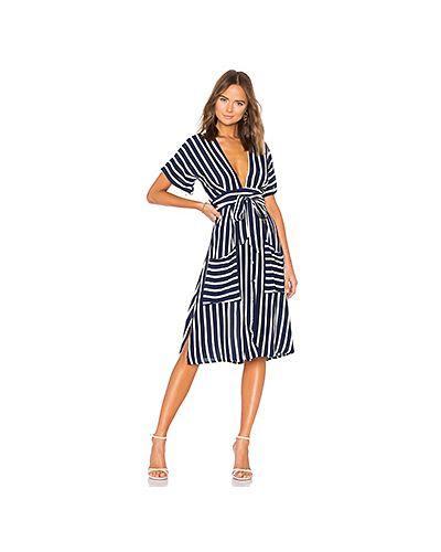 Платье с поясом на пуговицах шелковое Faithfull The Brand