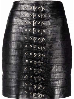 Черная юбка мини с завышенной талией Manokhi