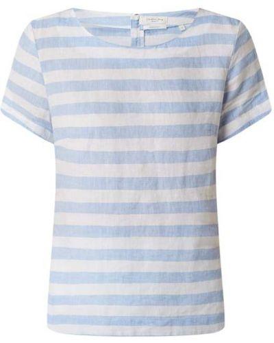 Niebieska bluzka w paski krótki rękaw Christian Berg Women