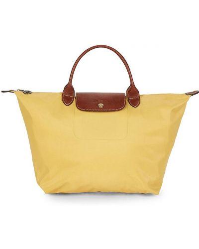 Кожаный топ - золотой Longchamp