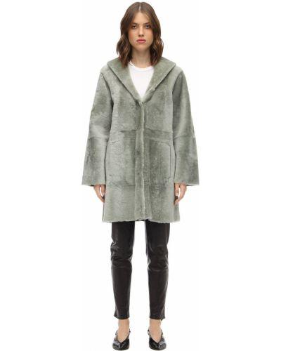 Пальто с капюшоном - серое Drome
