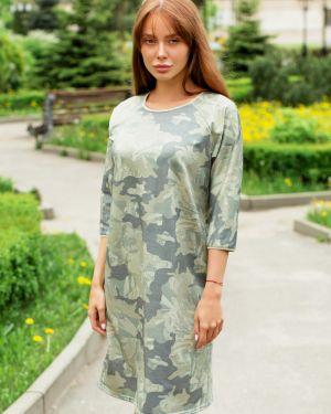 Прямое повседневное платье на пуговицах с жемчугом с люрексом Lika Dress