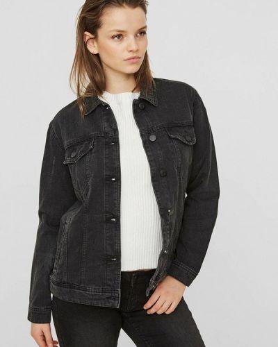 Джинсовая куртка черная весенняя Noisy May