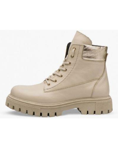 Кожаные ботинки - бежевые Bosser