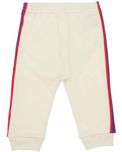 Bawełna bawełna biały joggery na gumce Gucci