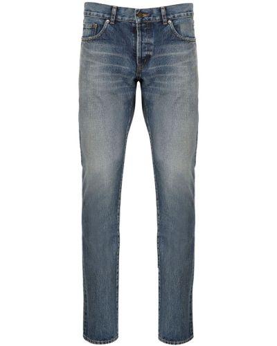 Mom jeans casual - niebieskie Saint Laurent