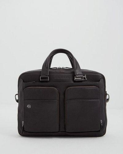 Коричневая кожаная сумка Piquadro