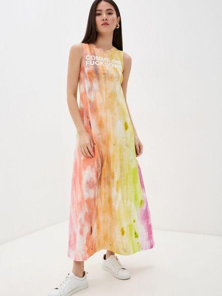 Разноцветное платье Comme Des Fuckdown