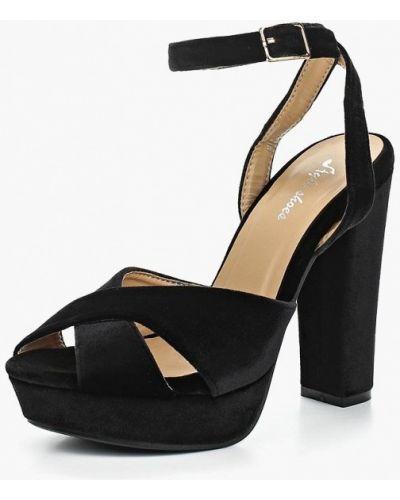 Черные босоножки на каблуке Style Shoes