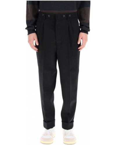 Czarne spodnie eleganckie Ami Paris