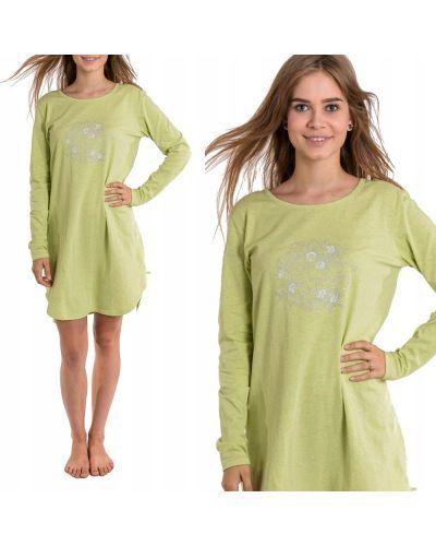 Bawełna koszula nocna z długimi rękawami w połowie kolana Key