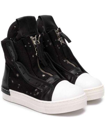 Ботинки на молнии черные Cinzia Araia Kids