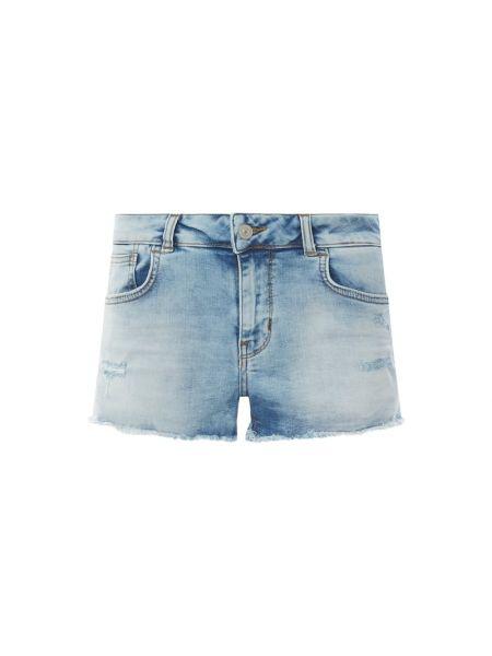 Niebieskie krótkie szorty bawełniane Ltb
