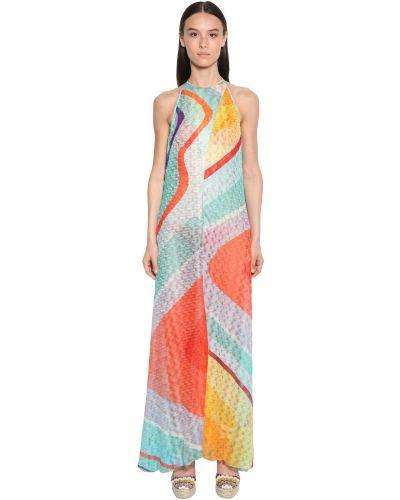 Платье макси вязаное из вискозы Missoni