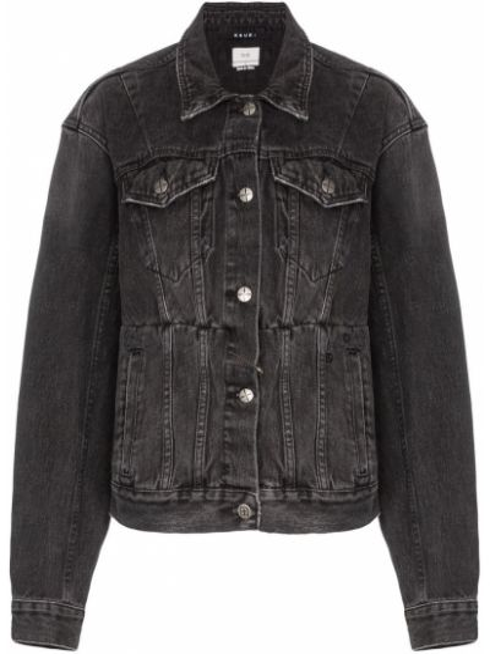 Черная джинсовая куртка Ksubi