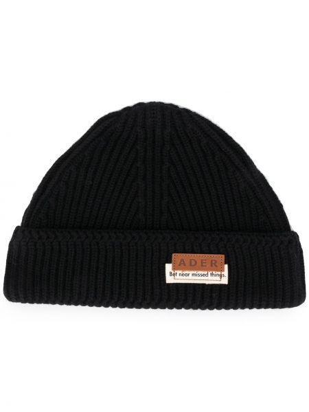 Czarny czapka beanie wełniany Ader Error