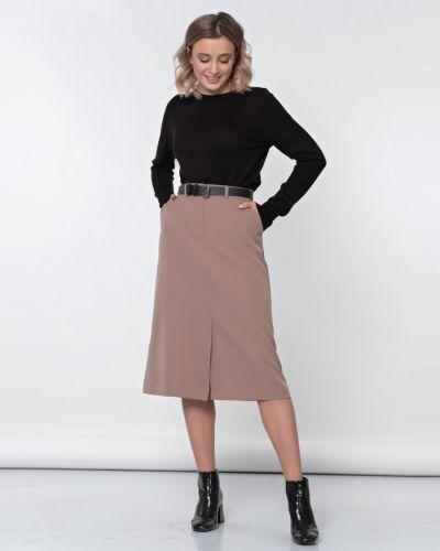 Прямая юбка на резинке с разрезом Jetty