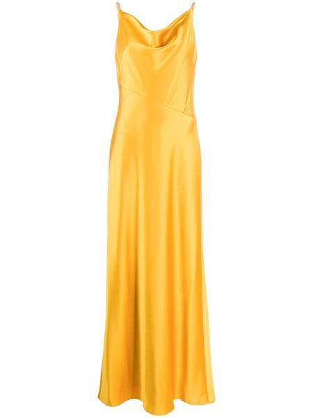 Приталенное тонкое вечернее платье на бретелях с воротником Lauren Ralph Lauren