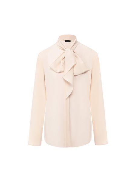 Блузка розовая шелковая Joseph