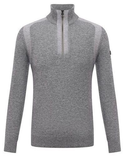 Серый шерстяной свитер Bogner