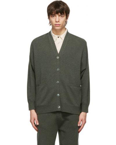 Кашемировый кардиган с воротником с карманами Extreme Cashmere