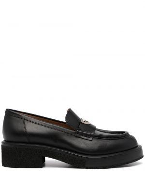 Loafers na obcasie - czarne Emporio Armani
