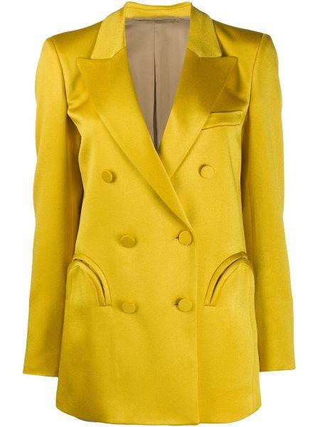 Желтая куртка с манжетами на пуговицах с карманами Blazé Milano