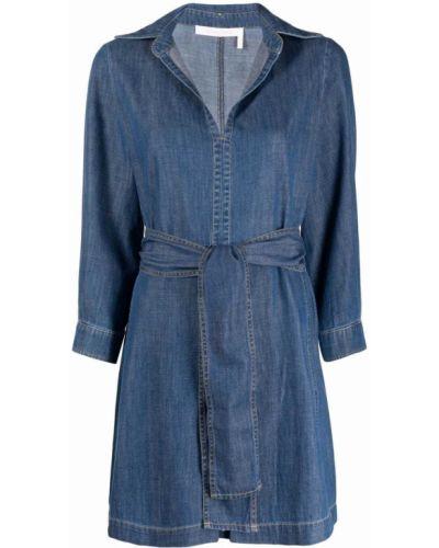 Платье макси длинное - синее See By Chloé