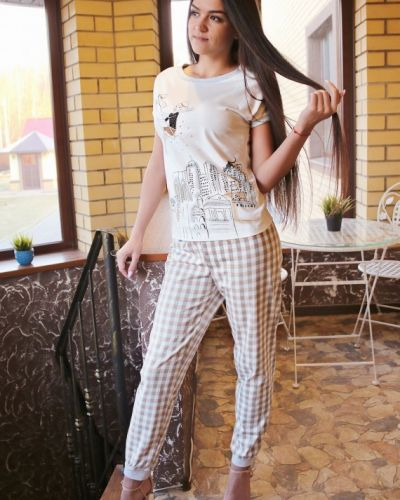 Пижама с брюками большой летняя золотое руно