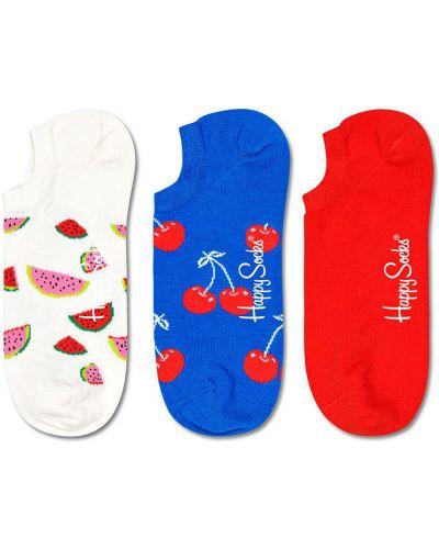 Białe skarpety bawełniane Happy Socks