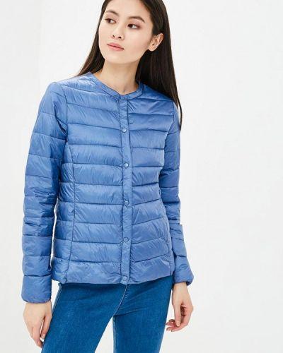Утепленная куртка весенняя синий Iwie
