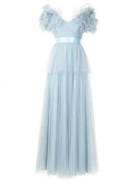Niebieska sukienka tiulowa Jenny Packham