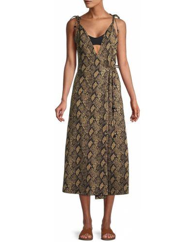 Платье миди с принтом Solid & Striped