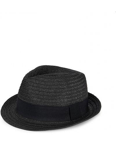 Прямые черные шляпа-федора San Diego Hat Company