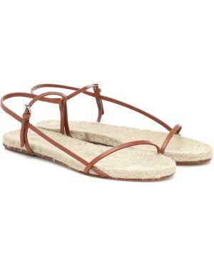 Кожаные туфли жёлтые песочный The Row