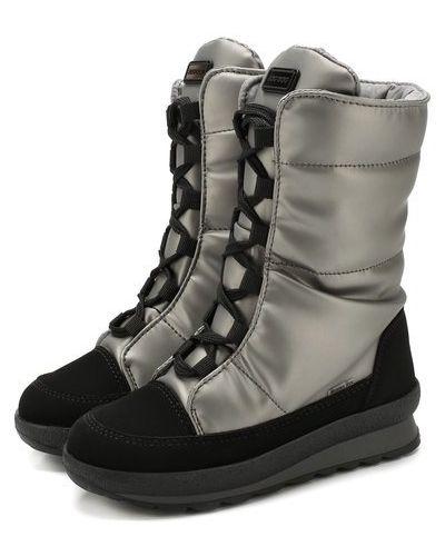 Утепленные кожаные сапоги на шнуровке Jog Dog