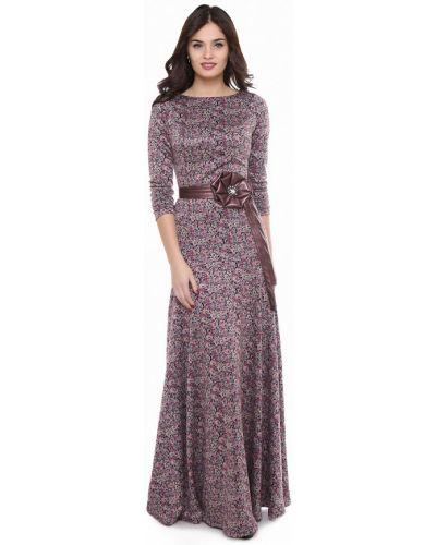 Платье макси осеннее оливковый Olivegrey