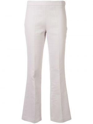 Расклешенные хлопковые серые брюки Giambattista Valli