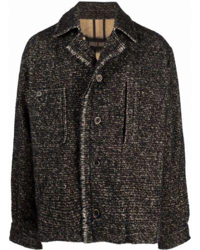 Черная куртка с бахромой Uma Wang