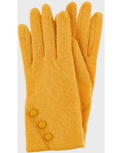 Шерстяные перчатки - желтые Accessorize