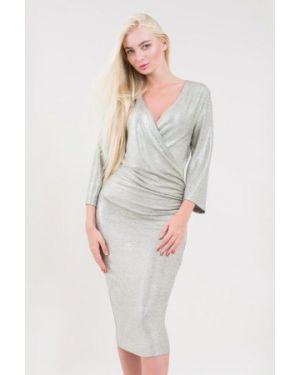Серебряное вечернее платье Maxa