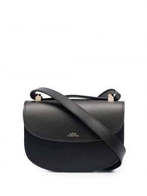 Замшевая черная сумка через плечо с подкладкой A.p.c.
