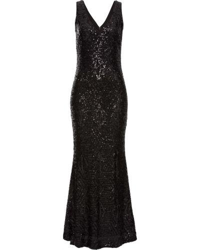 Черное вечернее платье с пайетками Bonprix