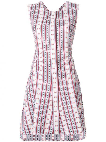 Sukienka rozkloszowana w paski z wiskozy Carven