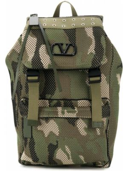 Zielony plecak klamry Valentino